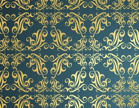 Vintage golden wallpaper background vector Stock Vector - 10565711