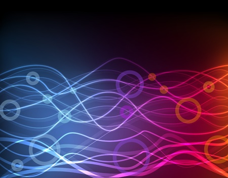 Cute glowing neon lights background illustration Vector
