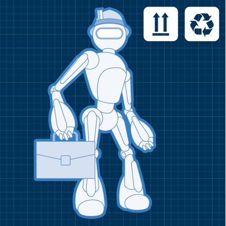 pressman: Animated journalist blogger robot blueprint plan