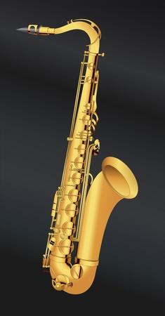 jive: Golden saxophone illustration vector