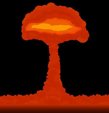 Nuage de l'explosion atomique formé aux champignons Vecteurs