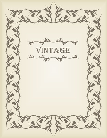 Vintage wedding invitation frame illustration Stock Vector - 10553732