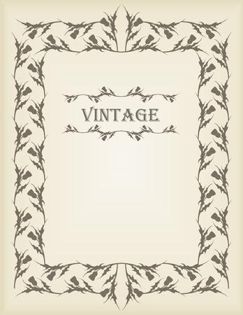 Vintage wedding invitation frame illustration Stock Vector - 10553732