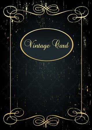 Luxury golden vintage background