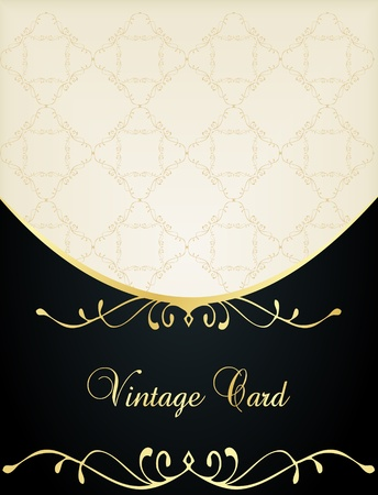 Luxury golden vintage background Vector