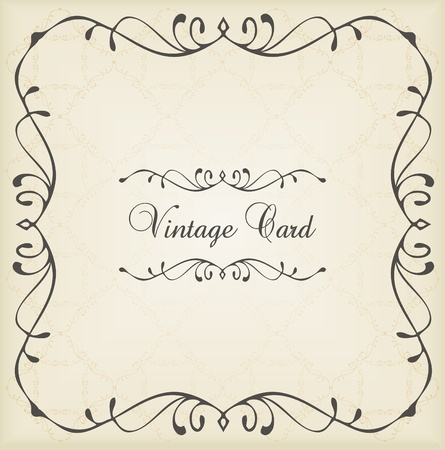 Vintage vector decorative frame for book cover or card background Stock Vector - 10553801
