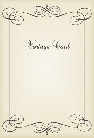 dingbats: Vintage vector decorative frame for book cover or card background Illustration