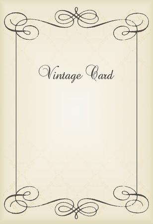 Vintage vector decorative frame for book cover or card background Illustration