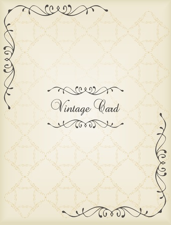 Vintage vector decorative frame for book cover or card background Illustration