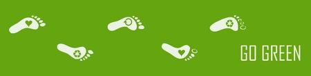 Ökologische Fußabdruck Vektorgrafik
