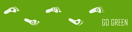 huella pie: Ecol�gico huella Vectores