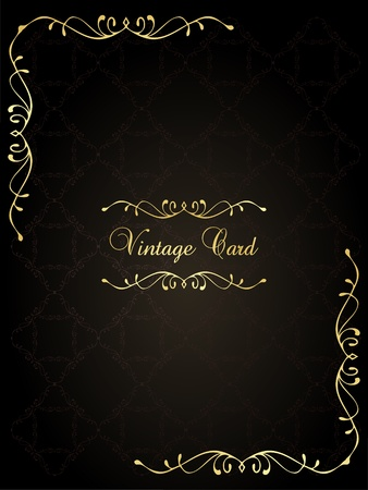 invitation background: Luxury golden vintage background