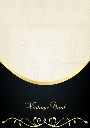 gold floral: Luxury golden vintage background