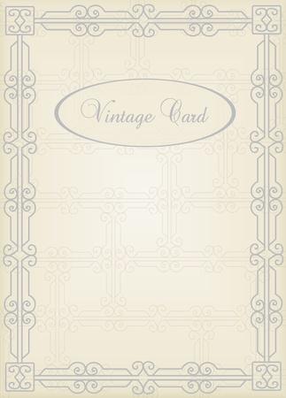 Vintage frames and elements illustration Vector