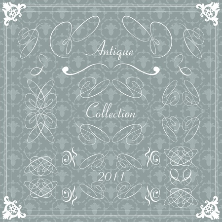 Vintage wedding frame vector set Vector
