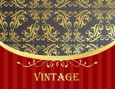 Golden vintage template vector background Stock Vector - 10553869