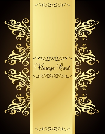 aristocratically: Golden vintage template vector background