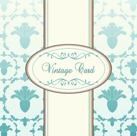 wedding reception decoration: Vintage blue vector background card or book cover