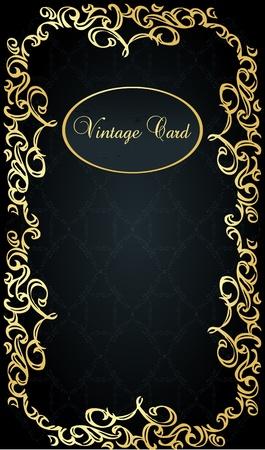 Vintage vector background with golden elements
