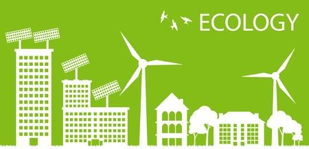 Green Eco city ecology vector background concept Stock Vector - 10553776