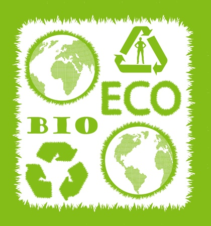 Signs of preservation of the environment- Ecology vector set. Stock Vector - 10579078