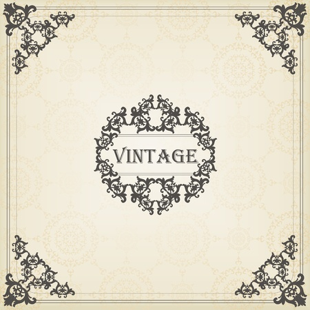 Vintage vector background for book cover or card Stock Vector - 10579077