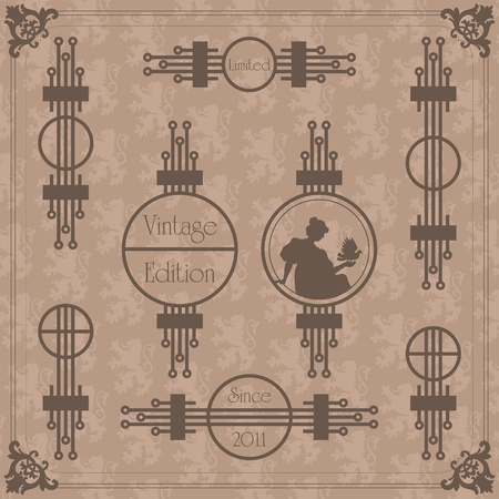 most popular: Vintage vector background for card or book cover Illustration