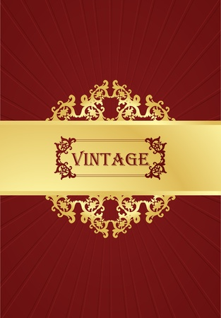 Vintage vector background for book cover or card Vector