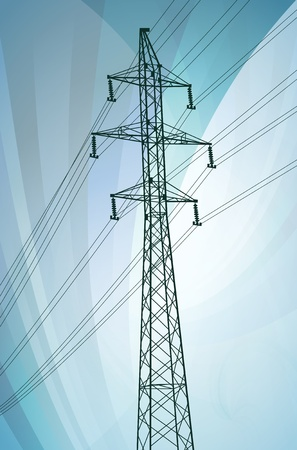 transmission line: High voltage tower and line background vector