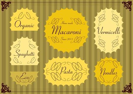 etiquette: Vintage labels illustration collection vector set