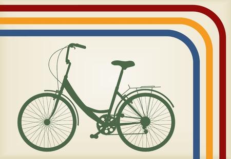 Vintage woman bike vector background Stock Vector - 10803575
