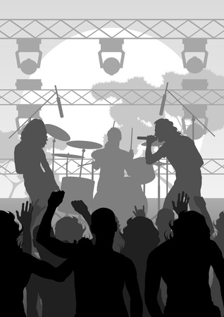 Rock concert landscape background illustration Stock Vector - 10803650