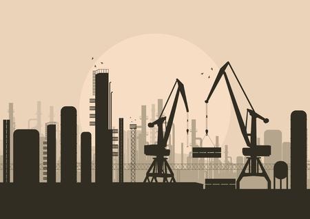 Industrial factory landscape background illustration Stock Vector - 10803628