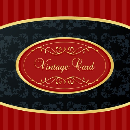 Vintage background with red and golden elements vector Vector