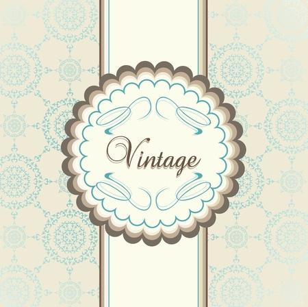 Vintage fond de vecteur menu avec les éléments bleus