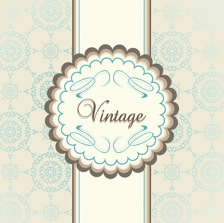 Vintage menu vector background with blue elements Vector