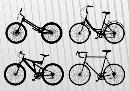 Bicycle illustration collection Vector