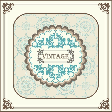 Vintage menu vector background with blue elements Vector