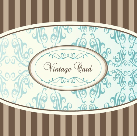 Vintage card or book cover vector background with blue elements Vector