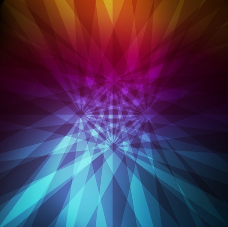 Neon abstract light lines design on dark background vector Stock Vector - 11058995