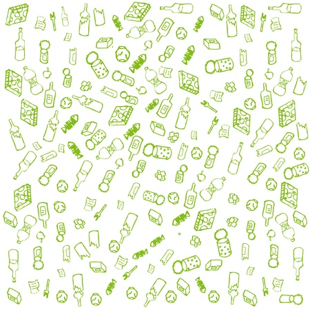 Recycle garbage sign round vector background Vector