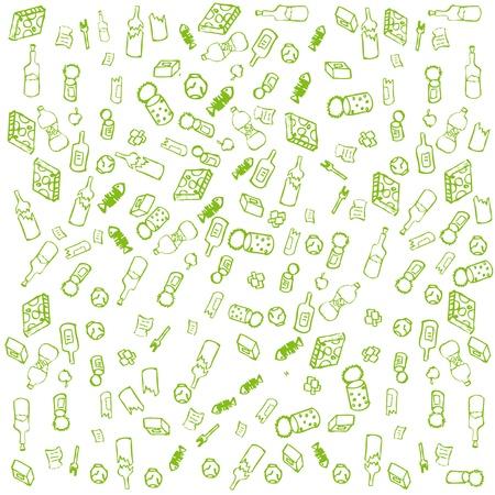 kompost: Recycle M�ll Zeichen Runde Vektor-Hintergrund