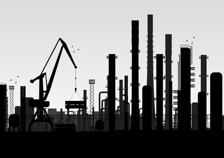 Industrial factory landscape background illustration Stock Vector - 11058939