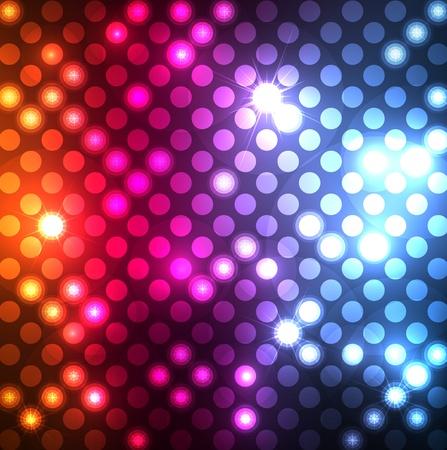 Astratto sfondo con effetti neon e luci colorate Vettoriali