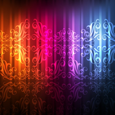Abstract burst background with neon effects and colorful lights Vector