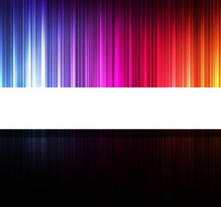 Neon Design abstrakten Linien auf dunklem Hintergrund Vektor
