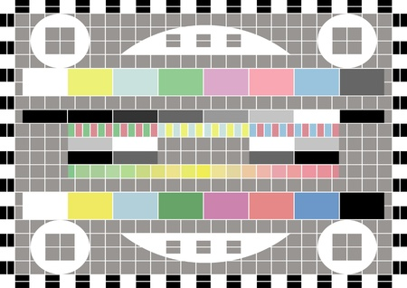 Retro television test screen background illustration Vector