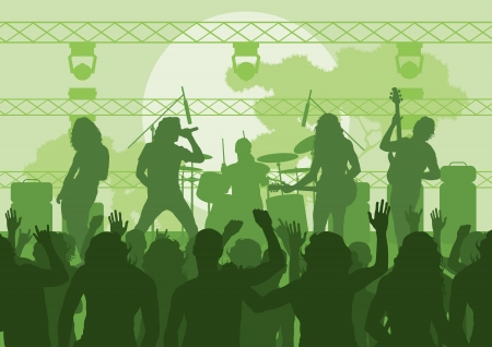 Rock concert landscape background illustration