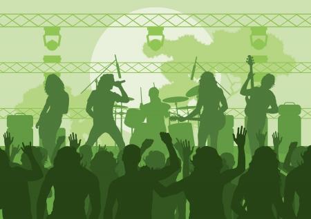Rock concert landschap achtergrond illustratie Vector Illustratie