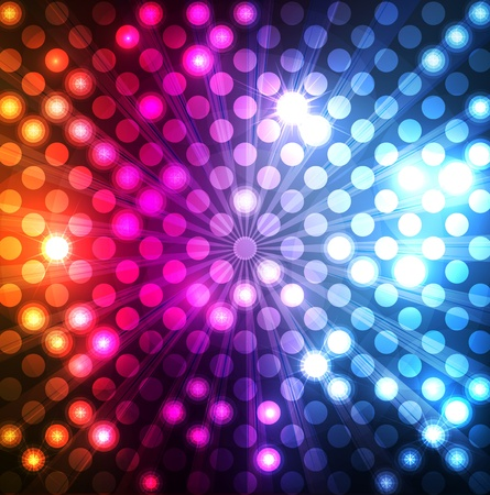Neon abstrakcyjny wzór linie na ciemnym tle wektora Ilustracje wektorowe